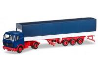 autotrailer Mercedes-Benz NG Planen-Sattelzug - H0 HERPA 012782