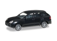 auto Porsche Cayenne Turbo negru - H0 HERPA 012836