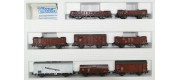 set 8 vagoane marfa DRG - H0 ROCO 04057A
