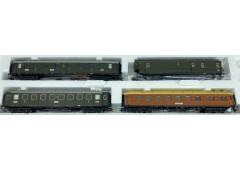 set 4 vagoane calatori DRG - H0 TRIX 23394
