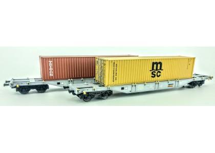 set 2 vagoane portcontainer CFR - H0 AMINTIRI FEROVIARE 35011