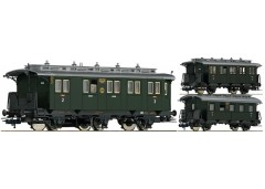 set 3 vagoane calatori DRG - H0 FLEISCHMANN 481804