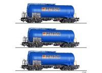 "set 3 vagoane cisterna ""PETROM"" CFR - H0 TILLIG 502074"
