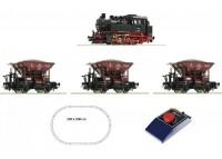 starset analog cu loco BR 80 si 3 vag. marfa DB - H0 ROCO 51159
