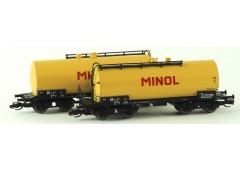 "set 2 vagoane cisterna ""MINOL"" DR - TT KUEHN 51520"