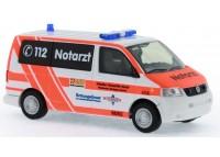 auto Volkswagen T5 Notarzt ASB KV Wiesbaden - H0 RIETZE 51921