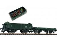 set 2 vagoane marfa transport deseuri DB - H0 FLEISCHMANN 591002