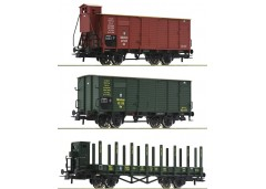 set 3 vagoane marfa K.Bay.Sts.B. - H0 ROCO 76094