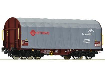 vagon cu prelata culisanta ERMEWA - H0 ROCO 76447
