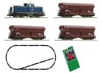 """startset analog cu BR 212 """"tren marfa"""" DB - N FLEISCHMANN 931705"""