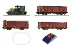 startset cu locomotiva diesel D.214 tren marfa FS- H0 ROCO 51158