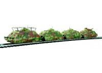 set 4 care blindate feroviare DRG - H0 LILIPUT 136504