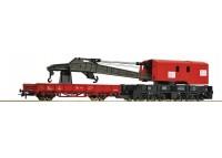 macara feroviara cu vagon auxiliar DB - H0 ROCO 56240